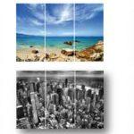 Set 3 canvas/b landscape 30×60
