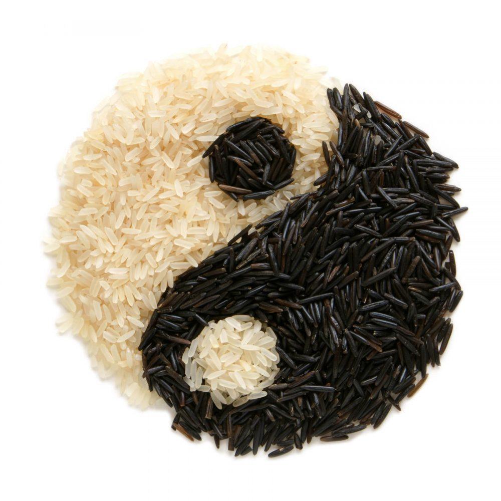 Canvas 40×40 yin and yang