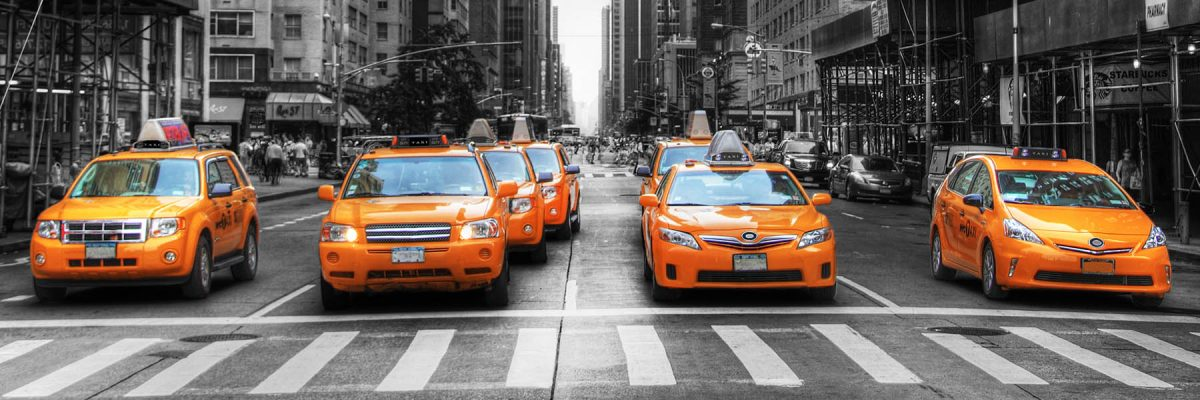 Canvas 50×150 new york taxis