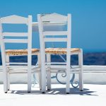 Set 3 canvas 30×60 white chairs
