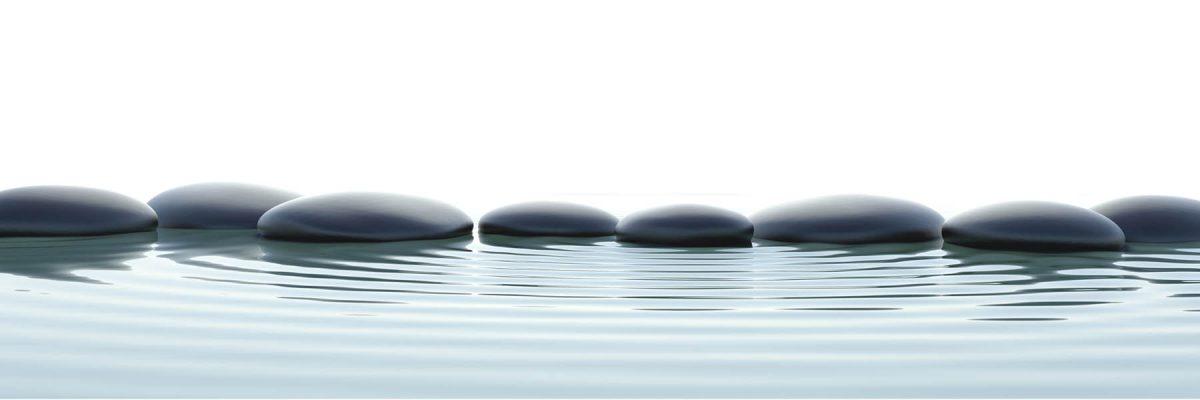 Canvas 50×150 zen stones