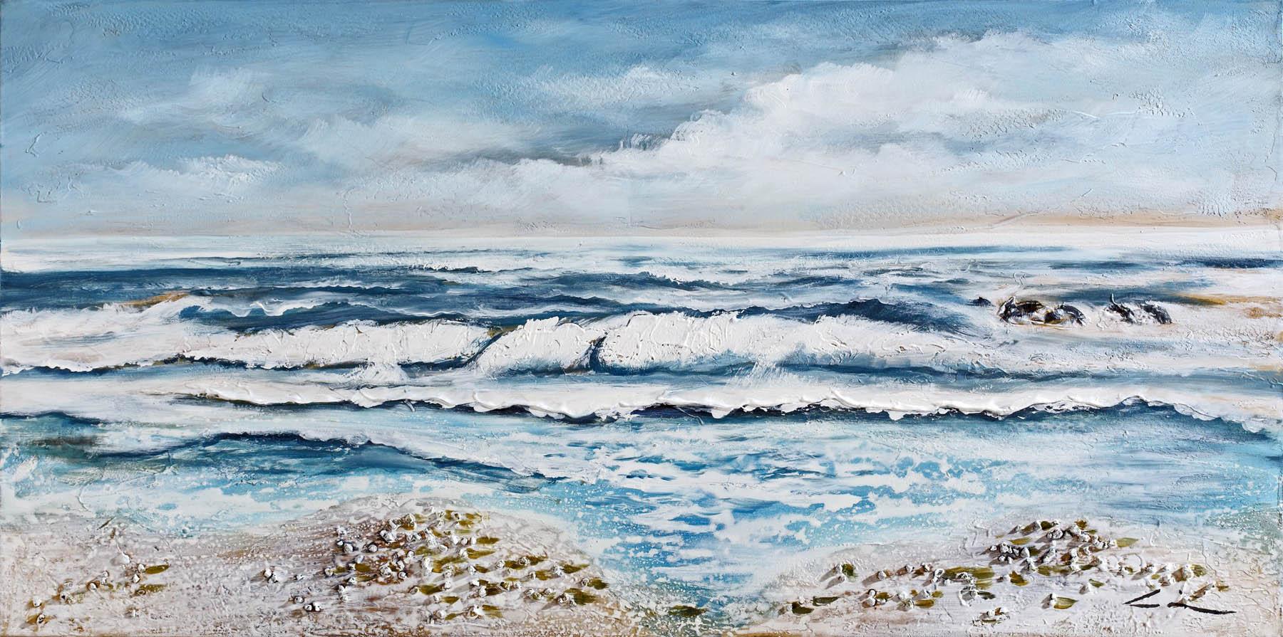 Dipinto art z211 60x120 dipinti a mano sea sun arte for Quadri bubola e naibo