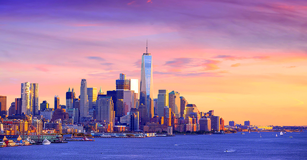 Canvas 0231 50×100 sunset on ny