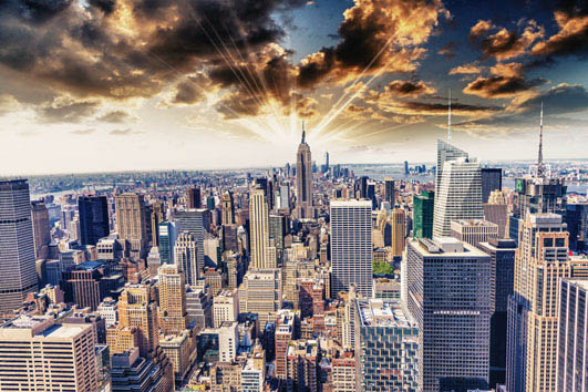 Canvas city view 25×25