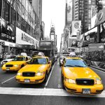 Canvas 40×40 new york taxis
