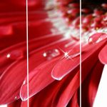Set 3 canvas 30×60 red flower