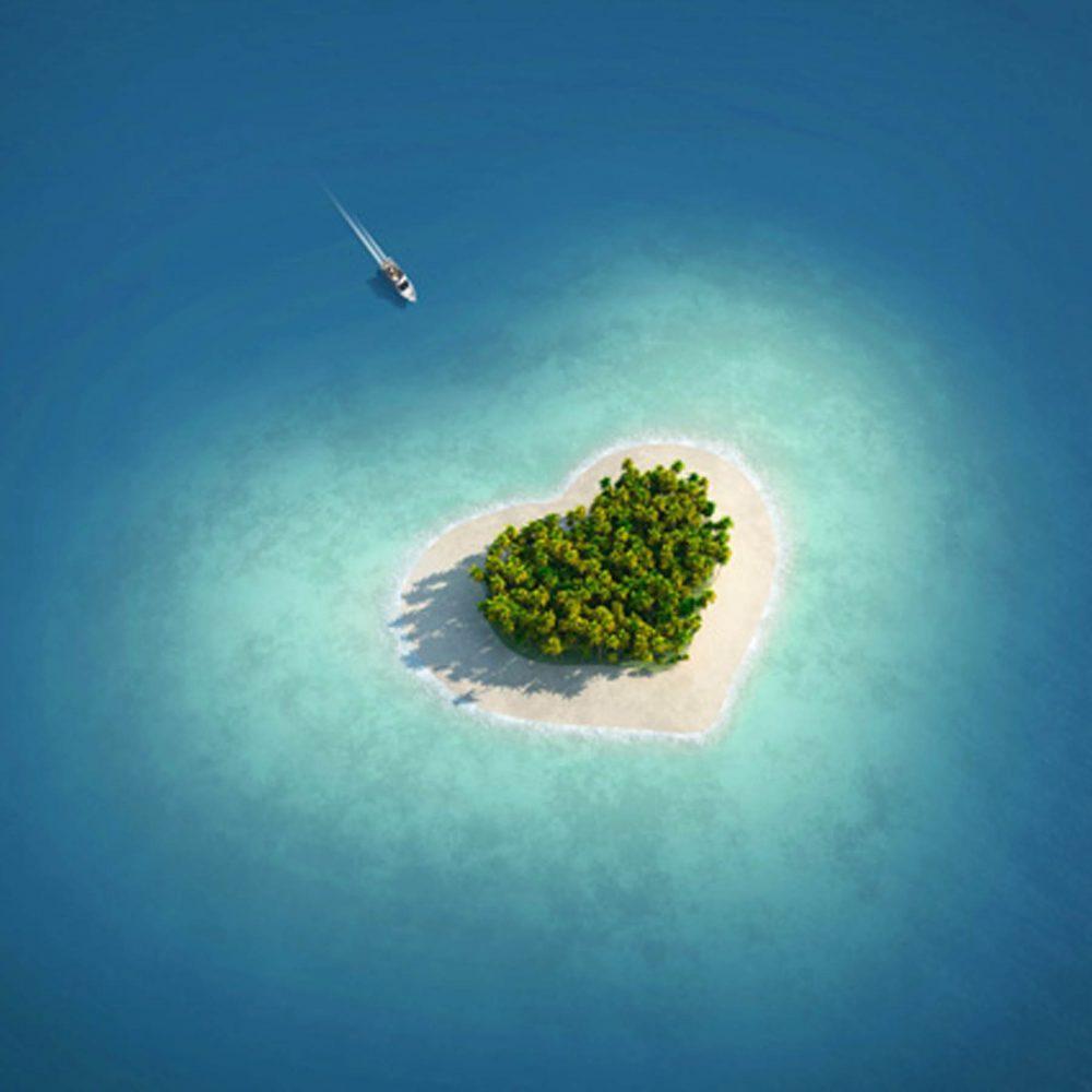 Canvas 40×40 heart island