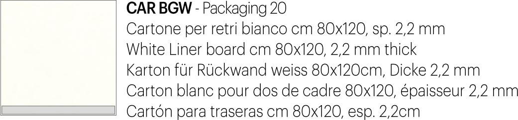 Cartone retro bianco 80×120