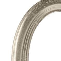 Cornice ovale argento 10x15