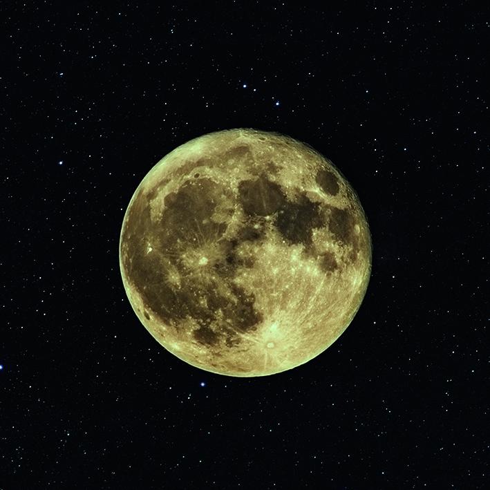 Canvas 0201 40×40 moon