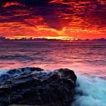 Canvas 0204 40×40 sunset