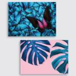 Canvas mixo 6  25×35 rosa/azzurro